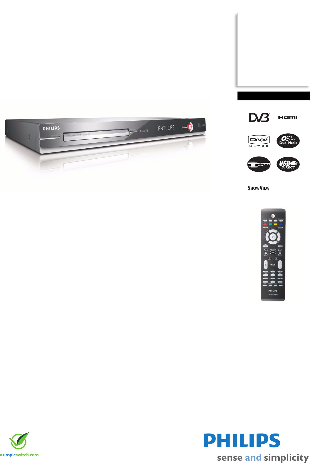 Philips DVDR5500 DVD Player User Manual