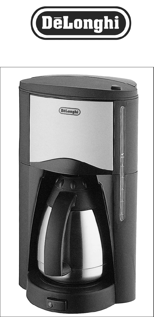 Delonghi Coffee Maker Cleaning Instructions : DeLonghi Coffeemaker DC77TC User Guide ManualsOnline.com