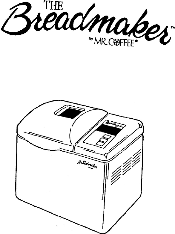 Mr  Coffee Bread Maker Bmr 200 User Guide