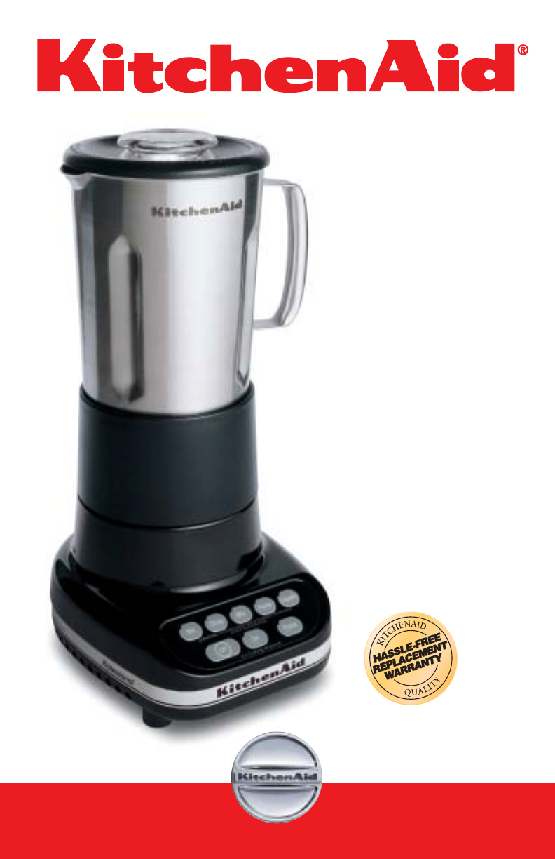 kitchenaid blender 5 speed professional blender user guide