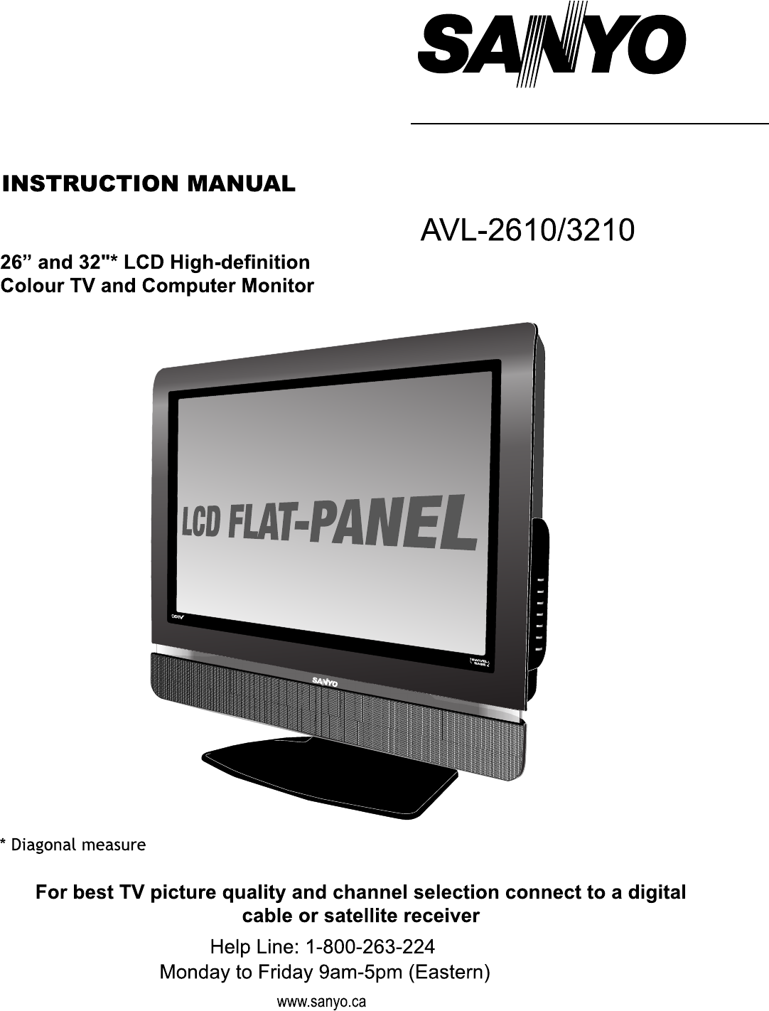 Sanyo CRT Television AVL-2610 User Guide | ManualsOnline