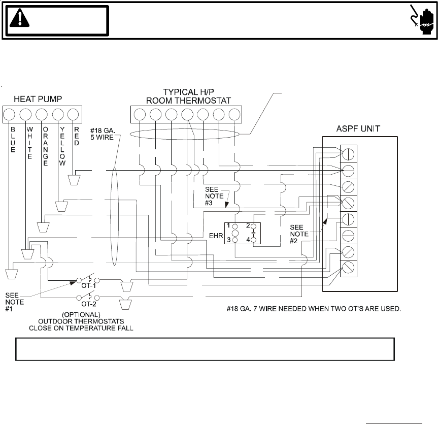 page 16 of goodman mfg air conditioner aruf user guide rh homeappliance manualsonline com Wiring Diagram for Goodman HVAC Package Goodman Heat Pump Thermostat Wiring Diagram