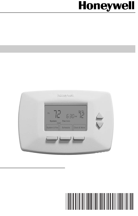 honeywell thermostat rth7400d user guide manualsonline com rh homeappliance manualsonline com