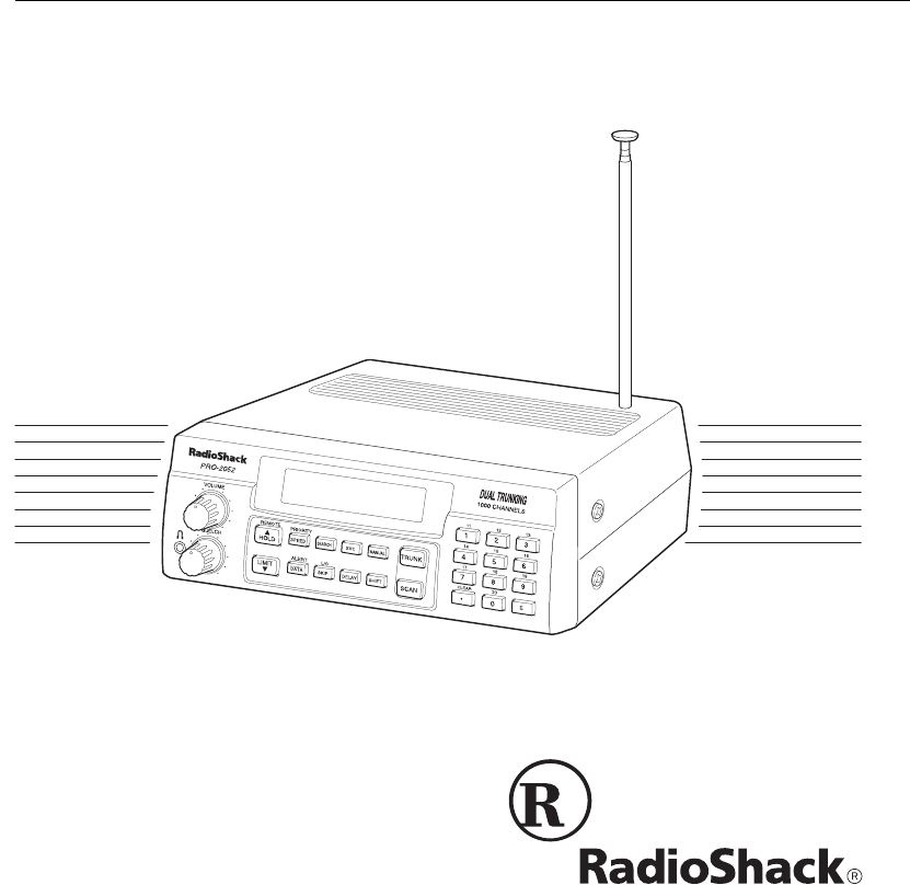 Radio Shack PRO-2052 Scanner User Manual