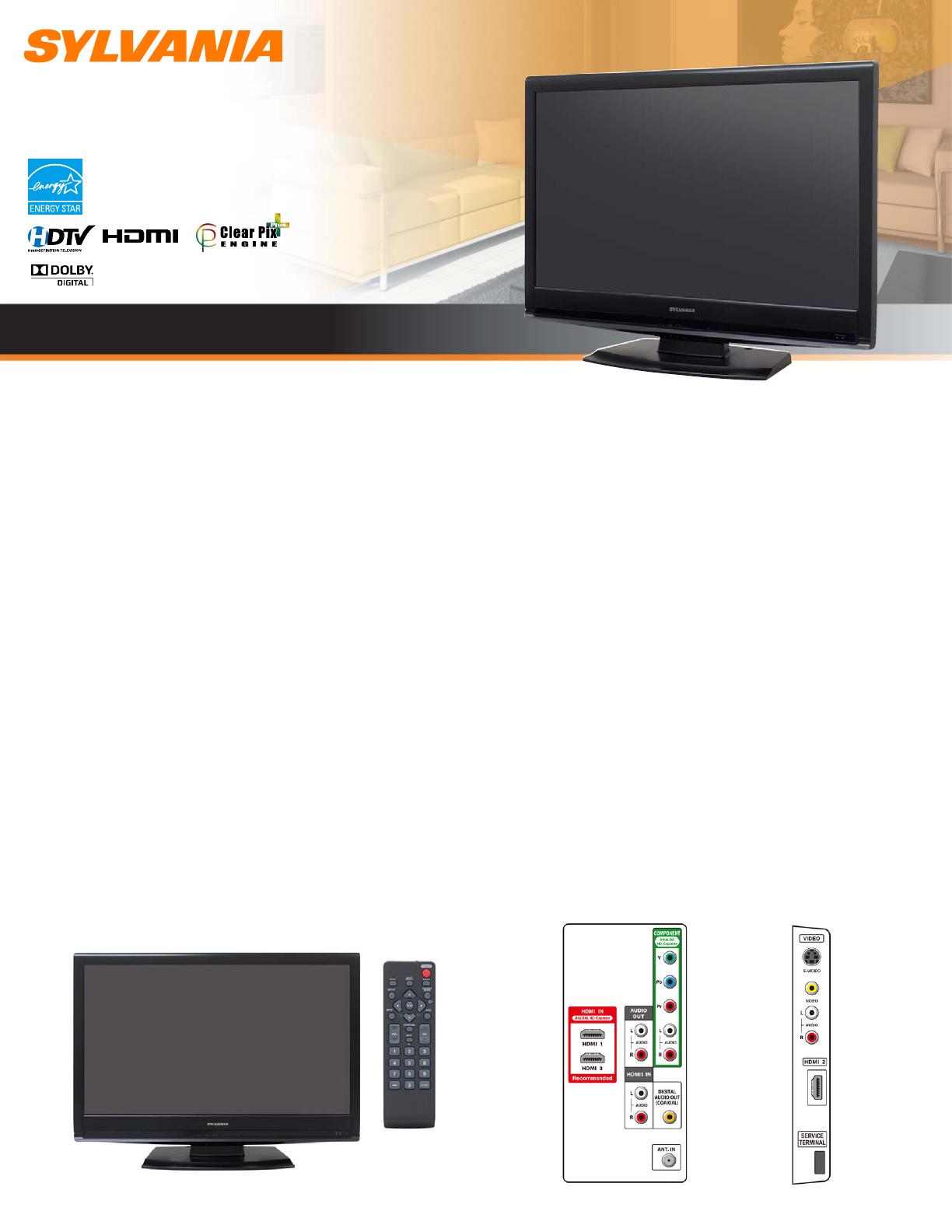 sylvania flat panel television lc320slx user guide manualsonline com rh tv manualsonline com