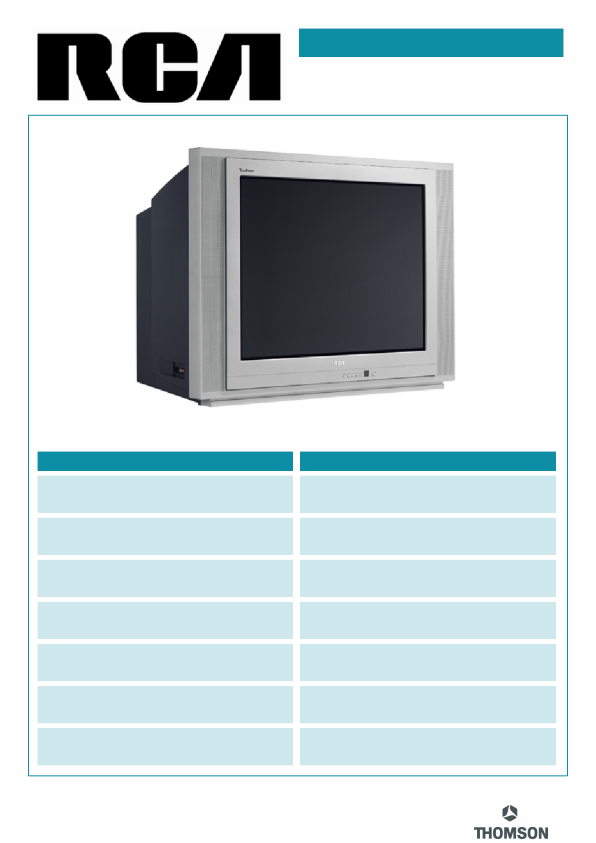 rca crt television 27f520t user guide manualsonline com rh tv manualsonline com RCA TV RCA TV