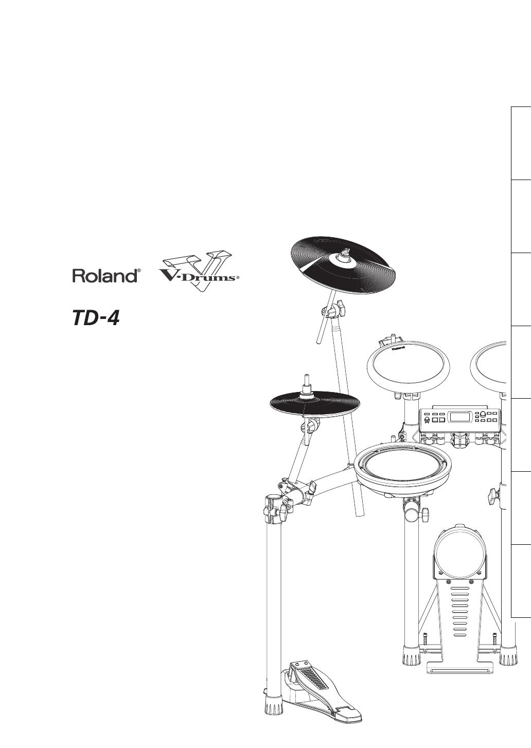 roland drums td 4 user guide manualsonline com rh music manualsonline com roland td-4k specs roland td-4k specs