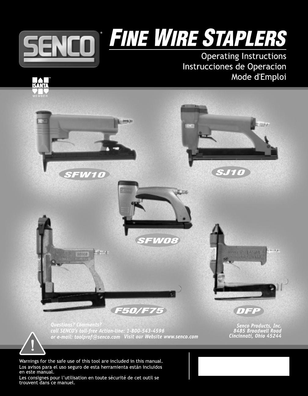 senco staple gun sfw10 user guide manualsonline com rh powertool manualsonline com Senco SJS Staples Senco Roofing Staples
