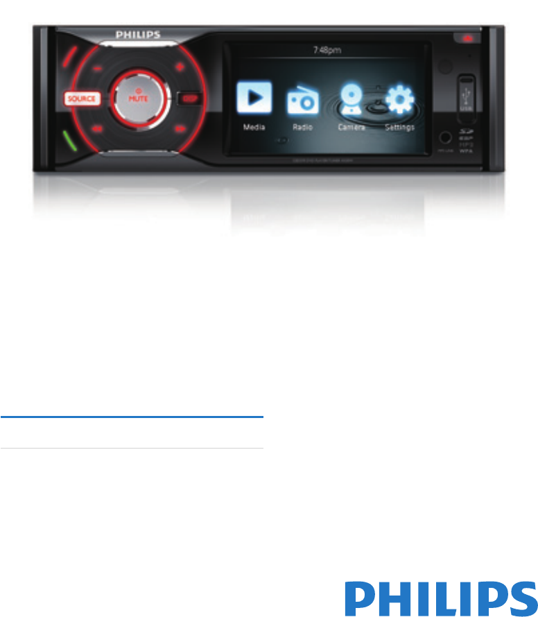 philips car video system ced370 00 user guide manualsonline com rh caraudio manualsonline com Philips DVD Player Manual Philips User Guides