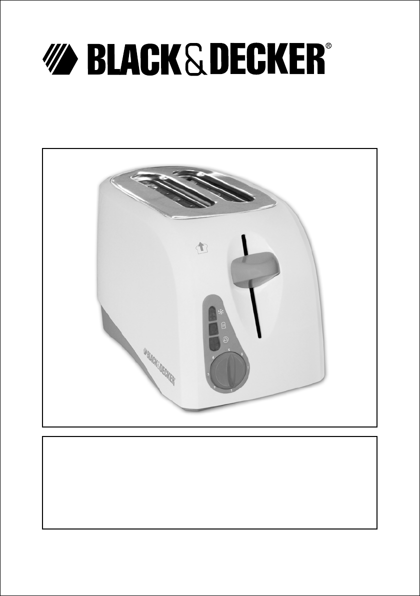 black and decker toaster manual