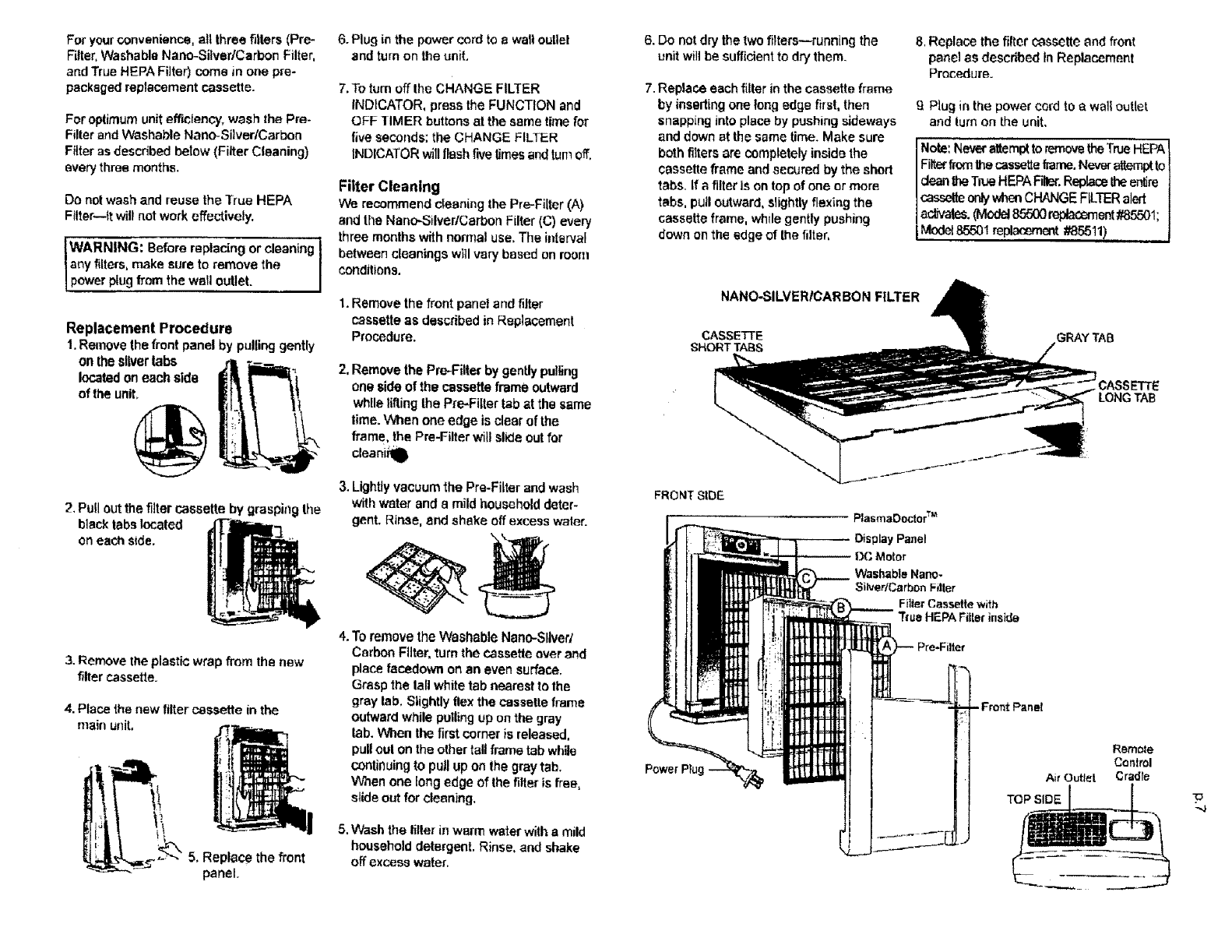 page 6 of kenmore air cleaner 85500 user guide manualsonline com rh homeappliance manualsonline com Kenmore Electrostatic Air Purifier Sears Kenmore Air Purifier