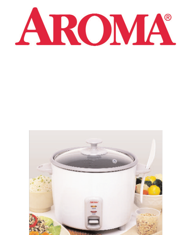 aroma rice cooker food steamer manual