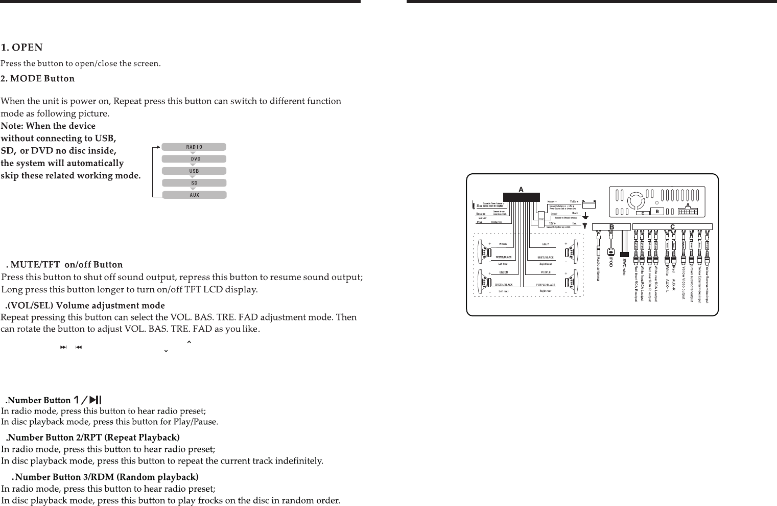 Page 4 of Boss Audio Systems Stereo System BV9967B User Guide |  ManualsOnline.com