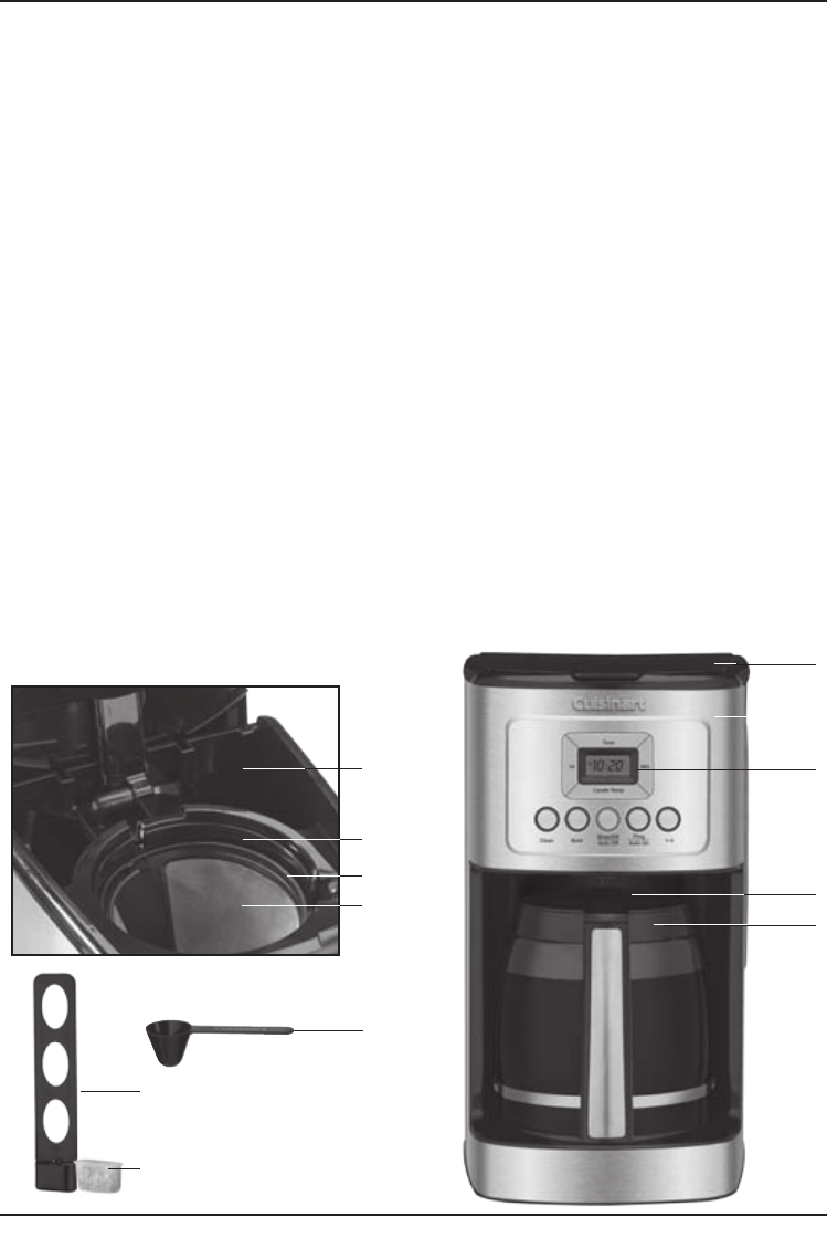 Cuisinart Coffee Maker Filter Instructions : Page 5 of Cuisinart Coffeemaker DCC-3200 User Guide ManualsOnline.com