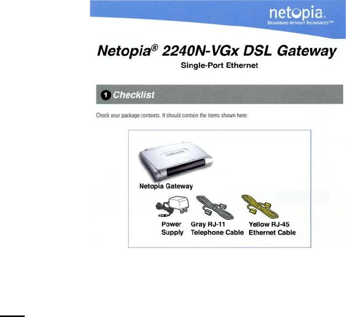 netopia network router 2240n vgx user guide manualsonline com rh audio manualsonline com Netopia DefaultPassword Netopia AC DC Adaptor Splice