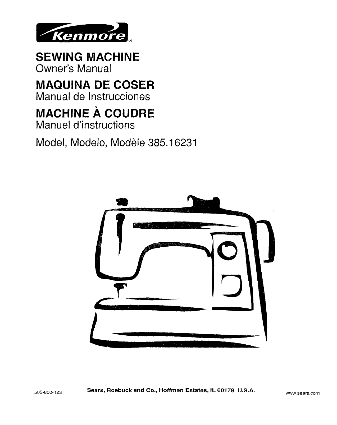 Kenmore Sewing Machine 38516231 User Guide Manualsonlinecom Chainsaw Parts Diagram On 80 Series Gas Dryer