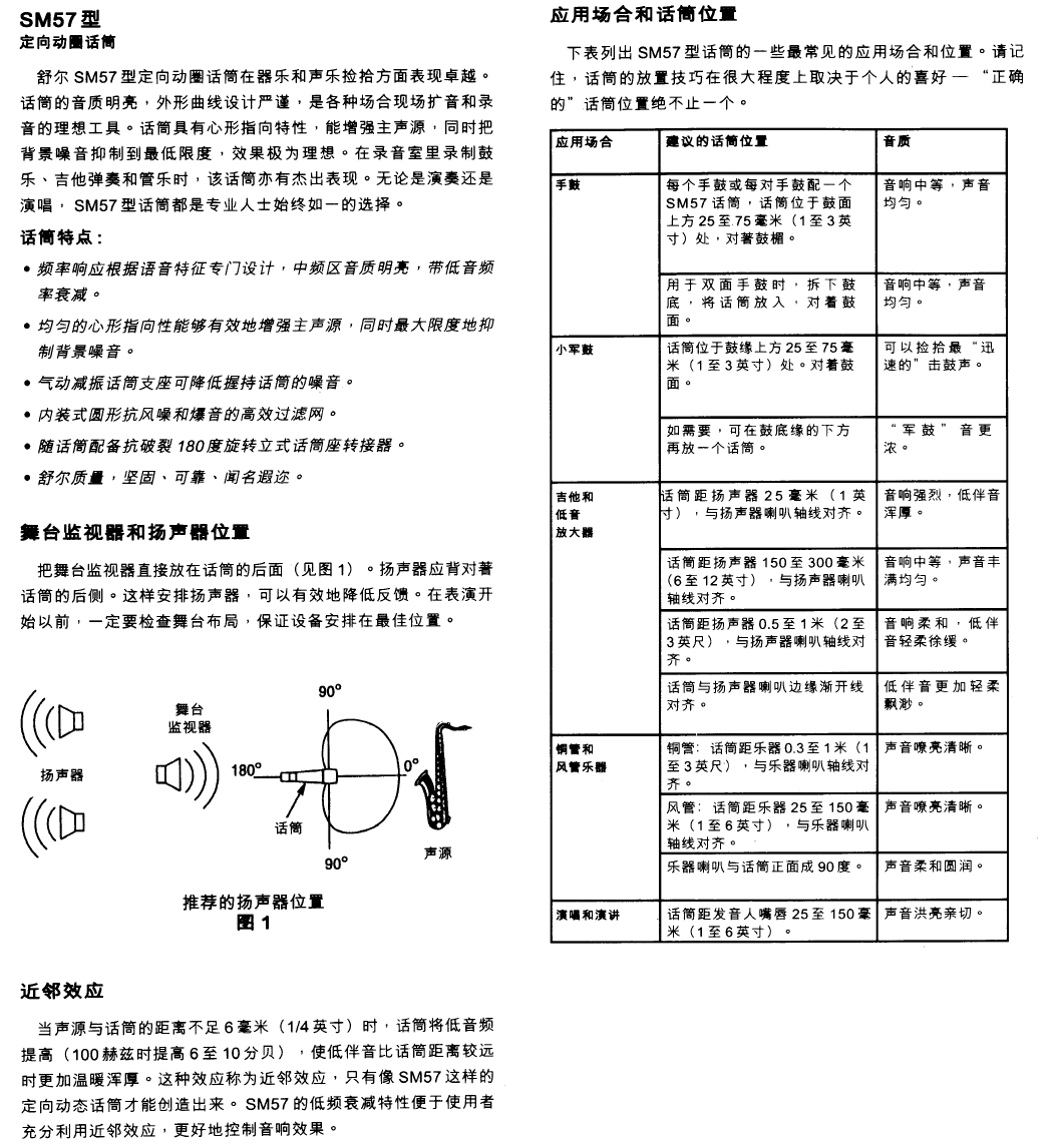 page 11 of shure musical instrument sm57 user guide manualsonline com rh music manualsonline com shure sm57 user guide Shure SM81
