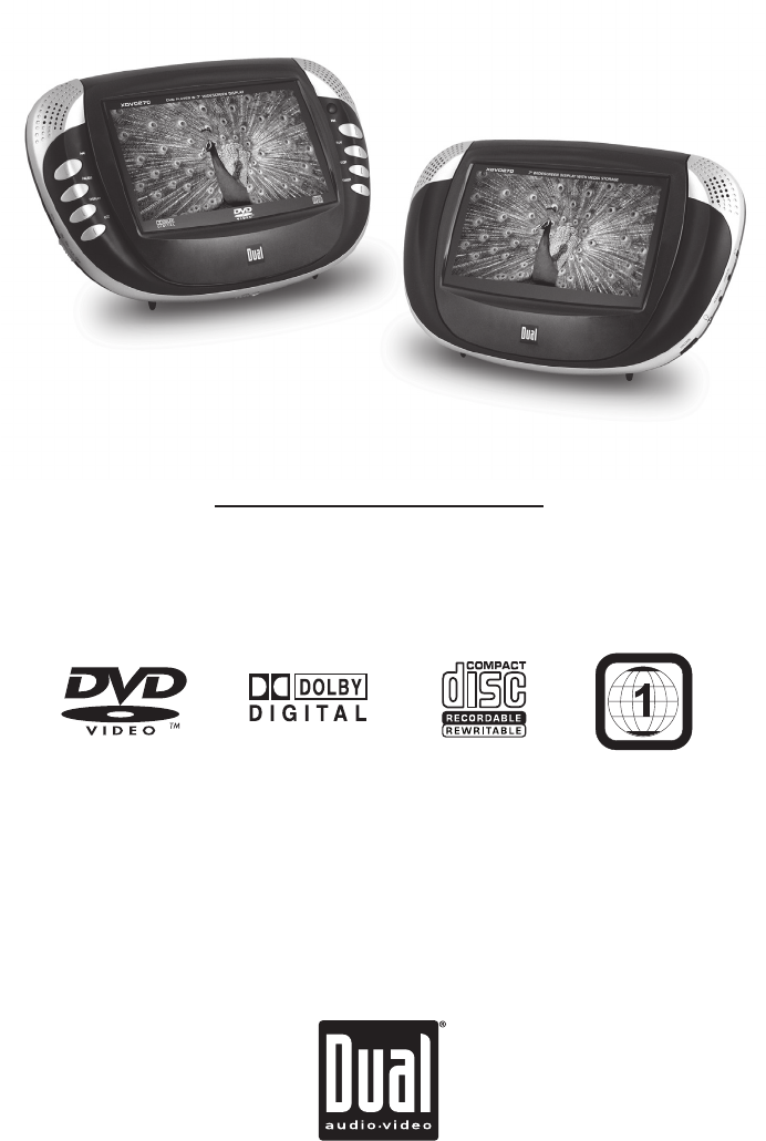 Dual Portable Dvd Player Xdvd270 User Guide