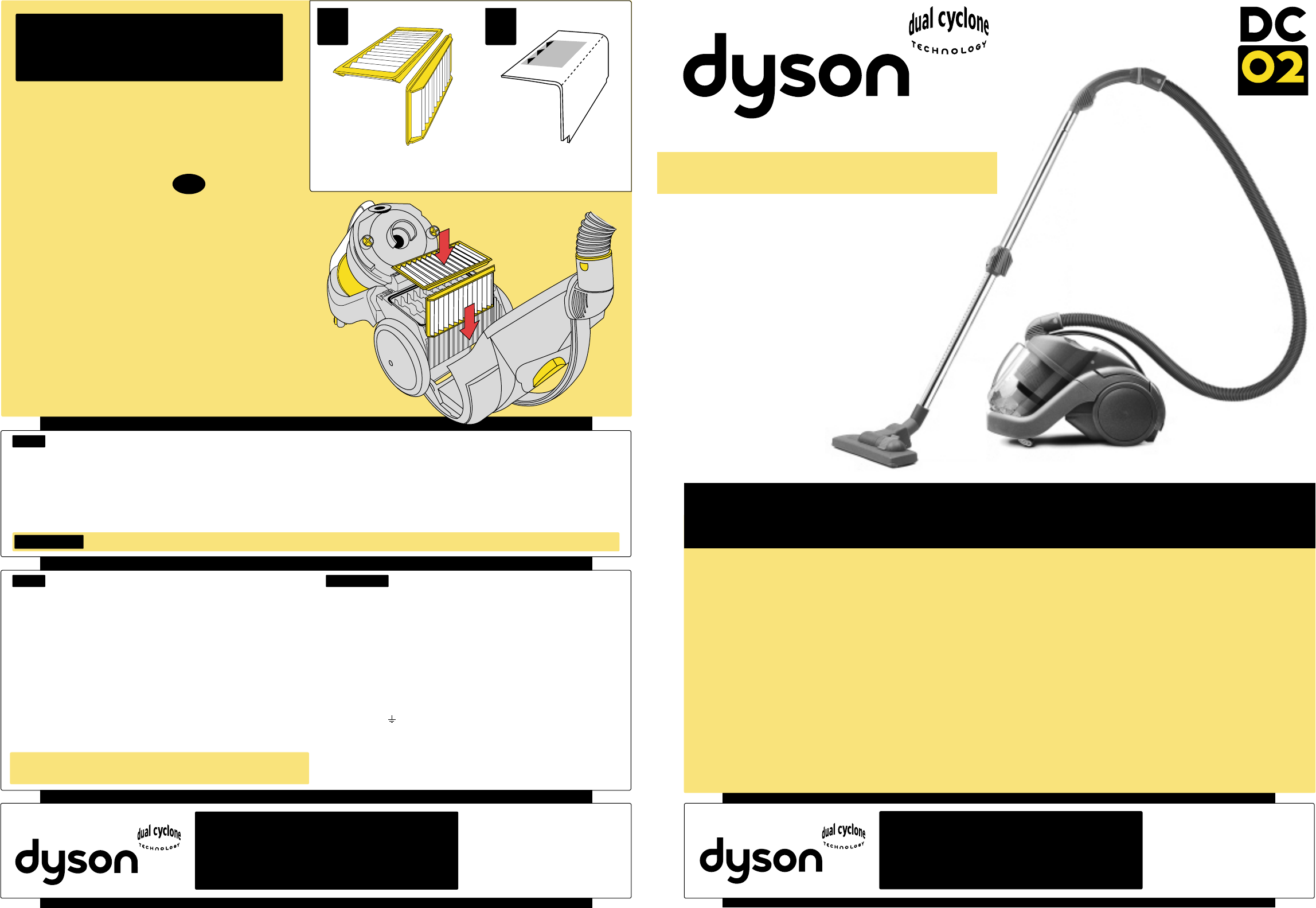 dyson vacuum cleaner dc02 user guide manualsonline com rh homeappliance manualsonline com Dyson DC05 Dyson DC04
