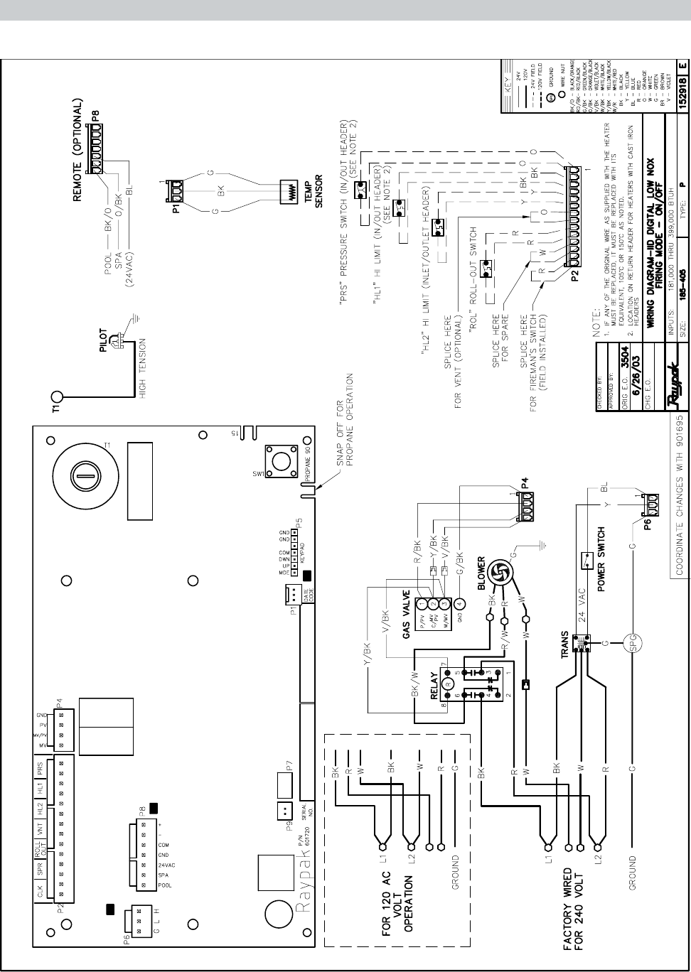iid wiring diagram page 28 of raypak swimming pool heater rp2100 user guide wiring diagram iid low nox