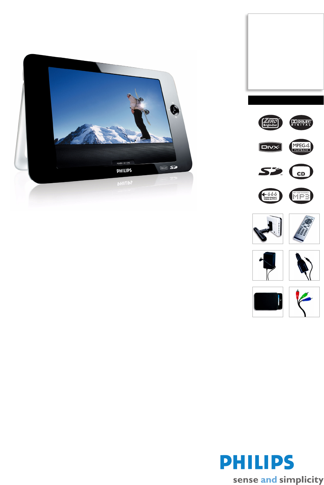 Philips portable dvd player remote control cr2025 with instruction.