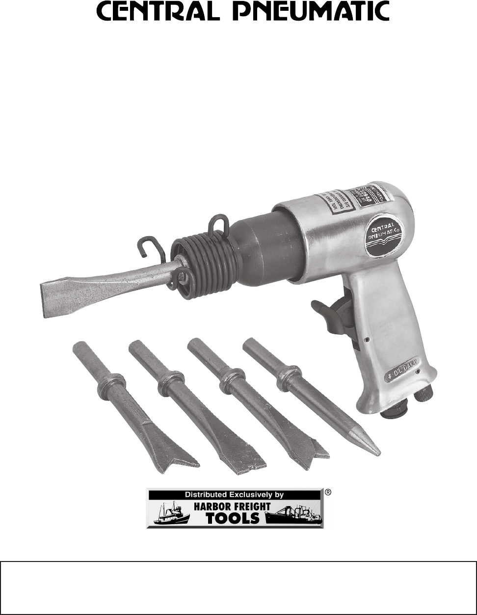 harbor freight tools power hammer 32940 user guide manualsonline com rh powertool manualsonline com Craftsman Snow Blower Parts Manuals Owner S Manual Craftsman 917