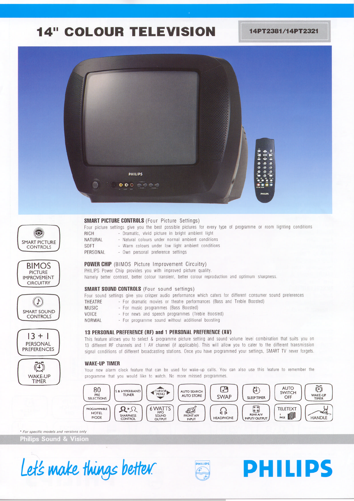 philips crt television 14pt2381 user guide manualsonline com rh tv manualsonline com Philips TV Owners ManualsOnline Philips TV Problems