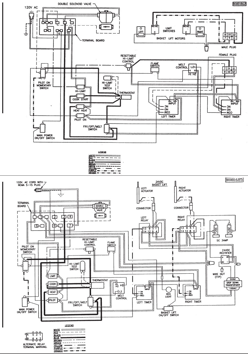 "page 27 of keating of chicago fryer gas fryer user guide 18"" and above ts basket lift wiring diagram"