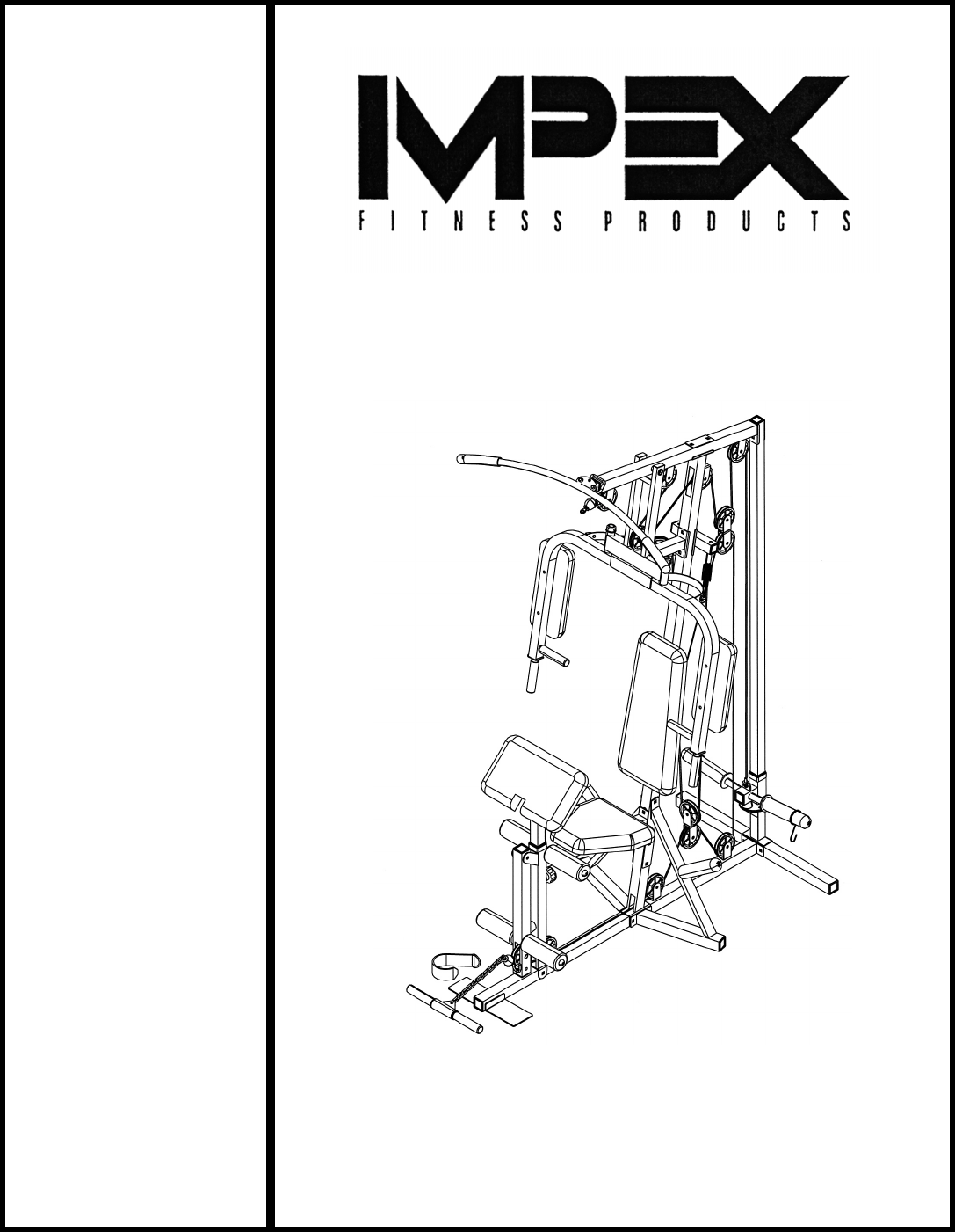 Impex Home Gym Cg 1400 User Guide