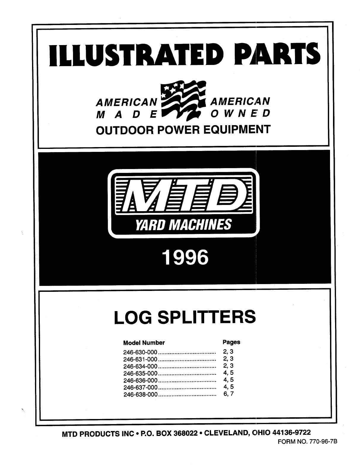mtd manual 1996