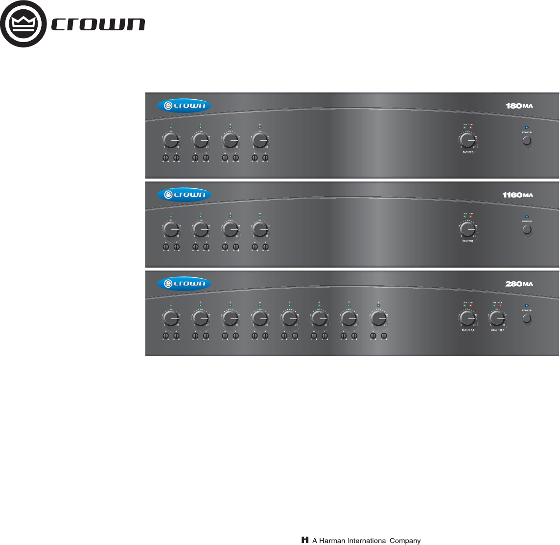 crown audio stereo amplifier 1160ma user guide manualsonline com rh audio manualsonline com Crown 280 MA Crown 135MA