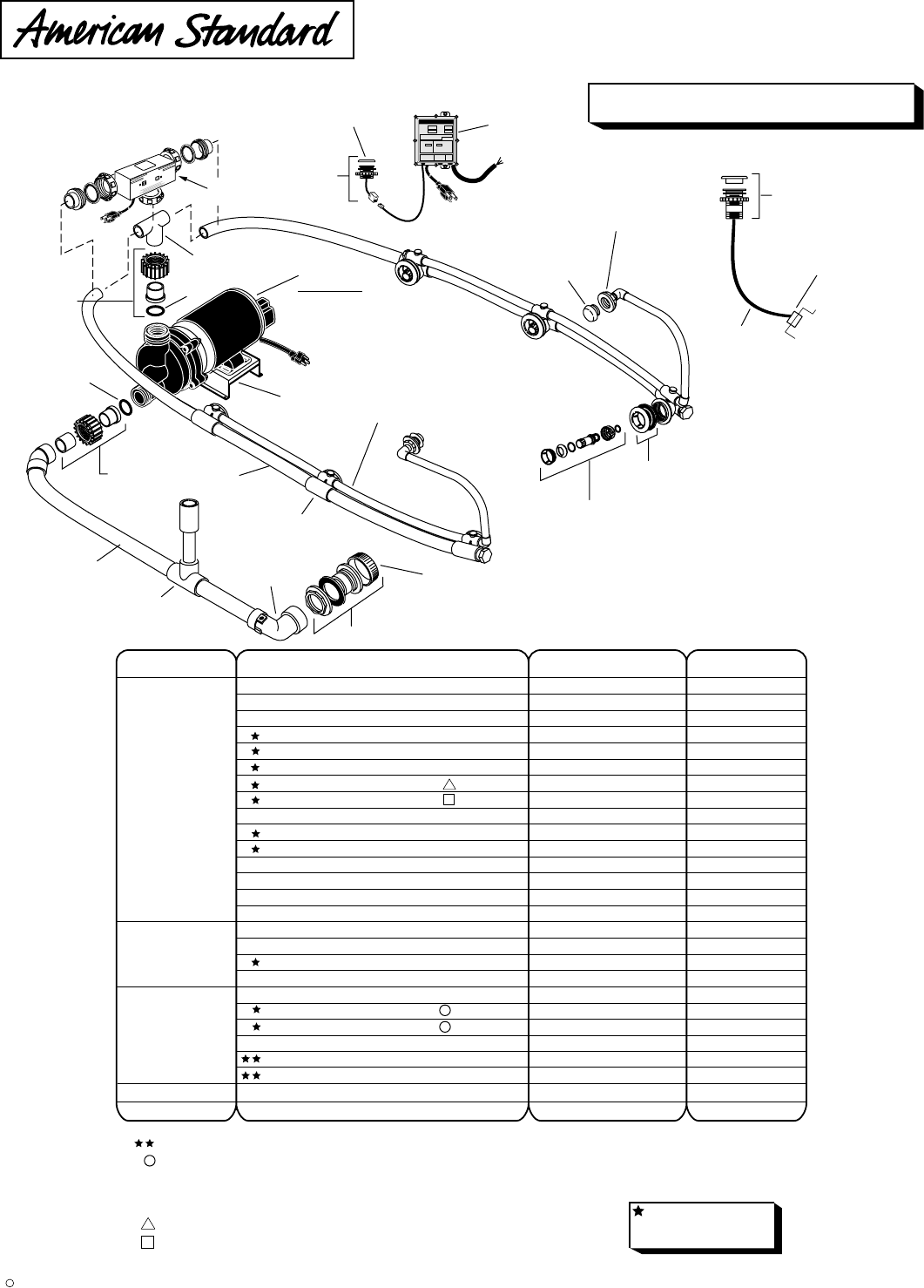 American Standard Hot Tub 2709 028 User Guide