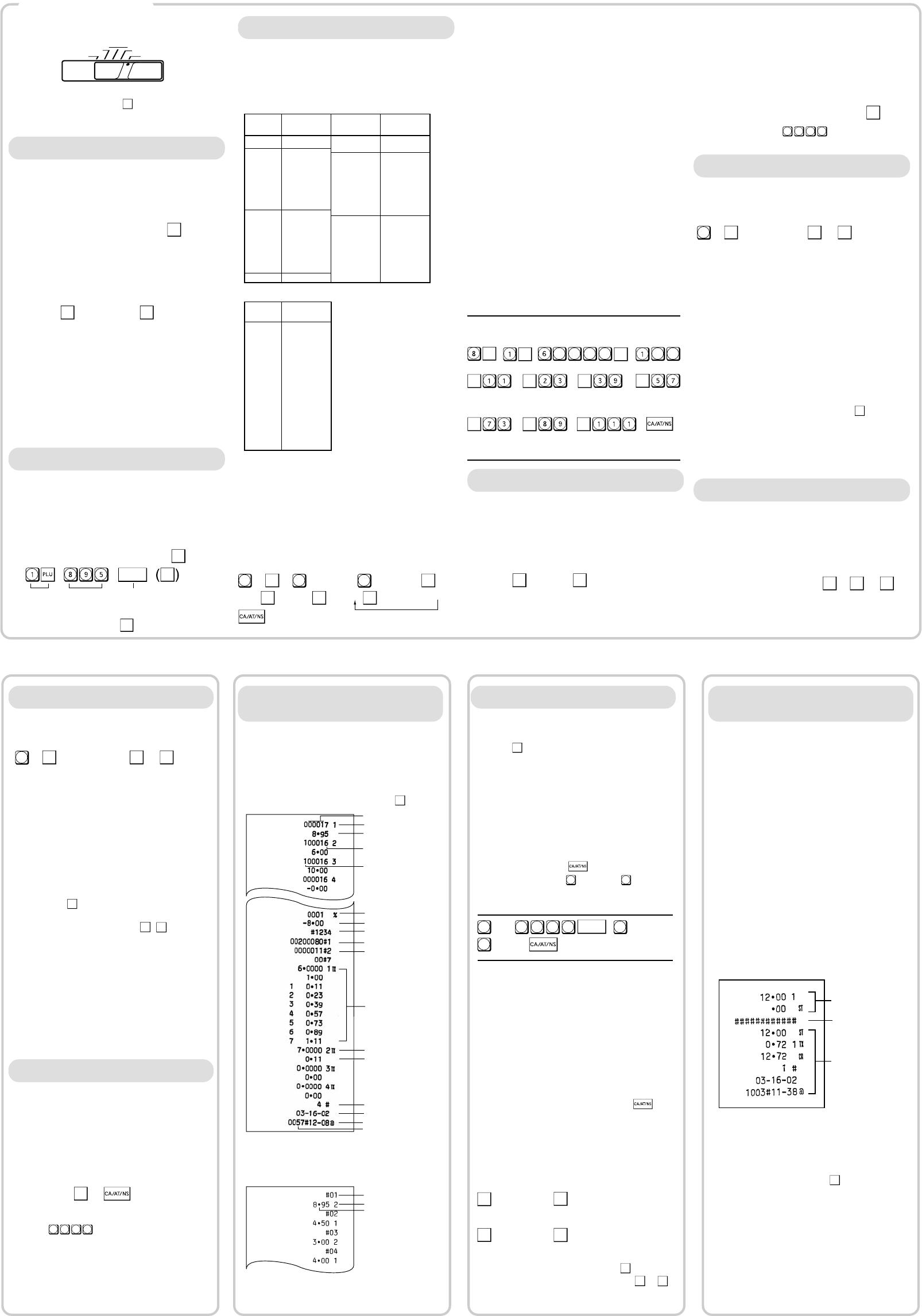 Sharp XE-A101 Cash Register User Manual