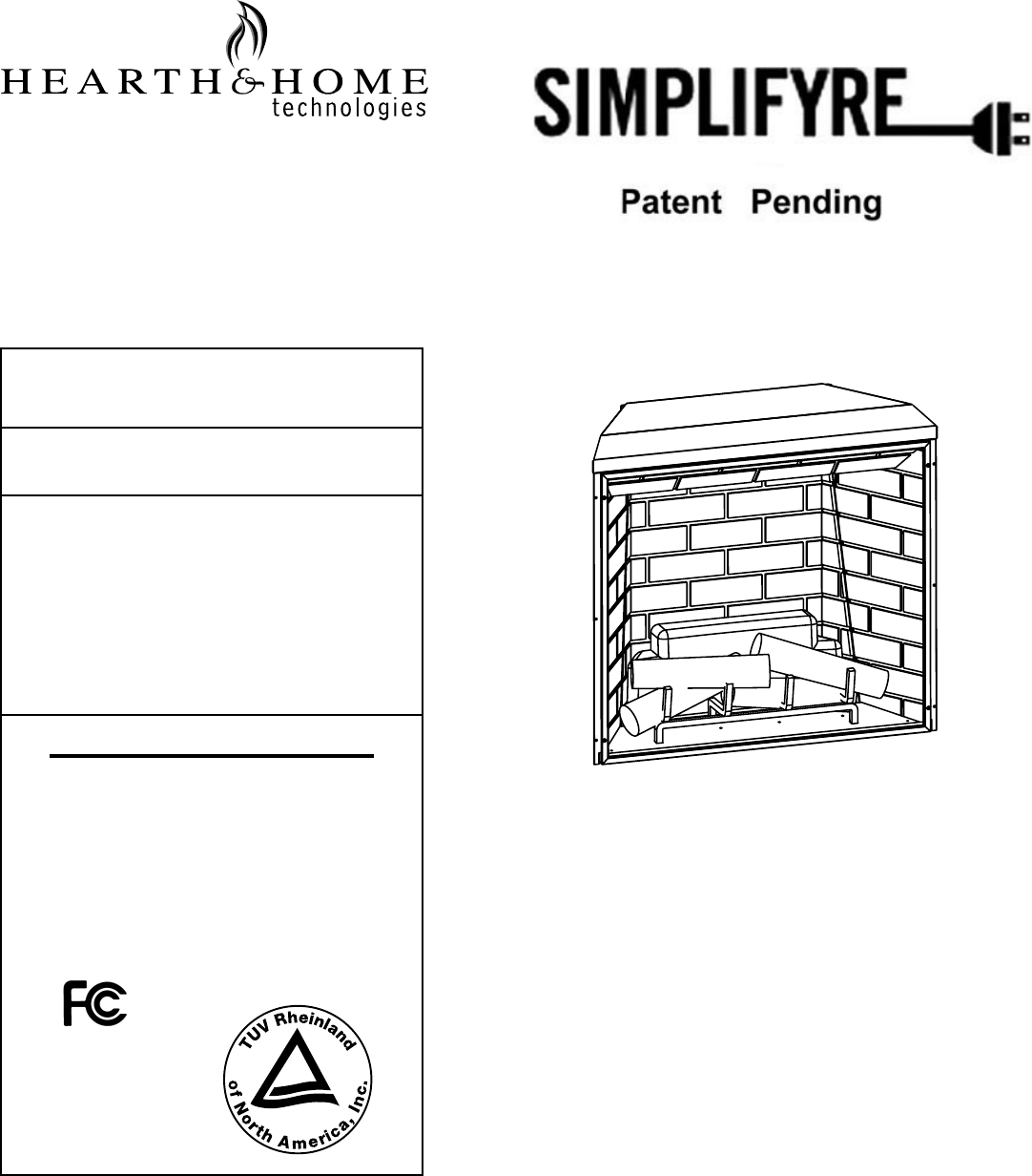 Hearth and Home Technologies Indoor Fireplace SFE-35 User Guide ...