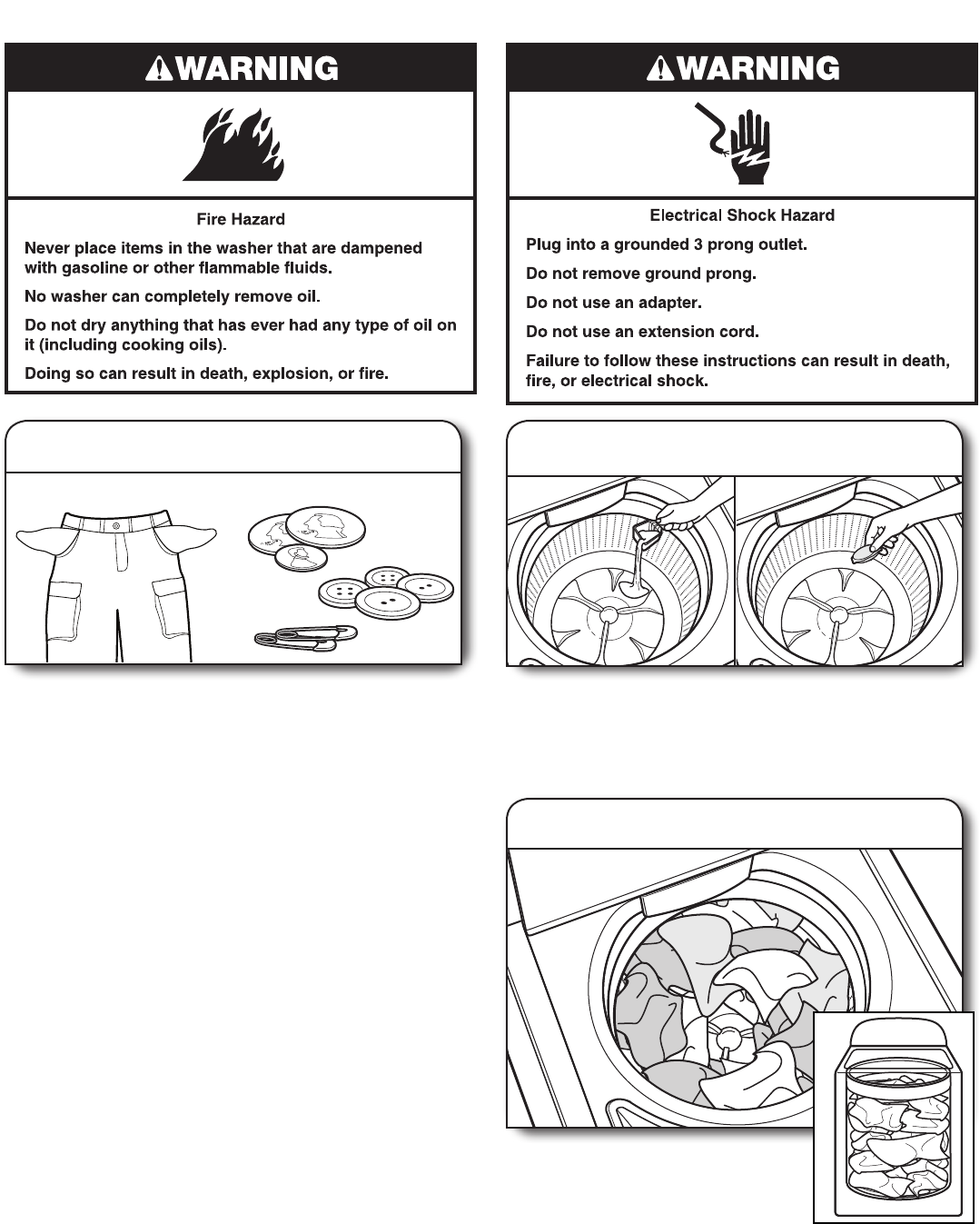 Page 8 of Whirlpool Washer Cabrio User Guide
