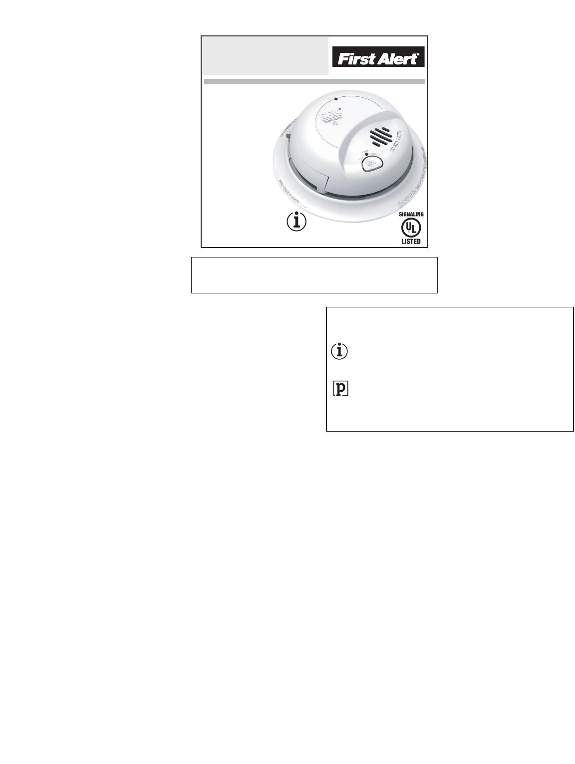 First Alert U00ae 9120b Manual Guide