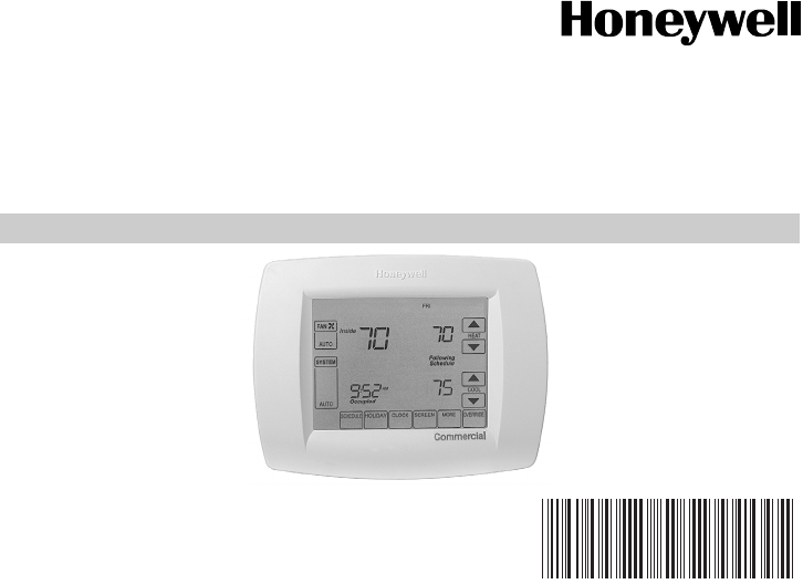 honeywell thermostat tb8220u user guide manualsonline com rh audio manualsonline com Honeywell 8000 Thermostat Manual PDF Honeywell 8000 Thermostat Manual PDF