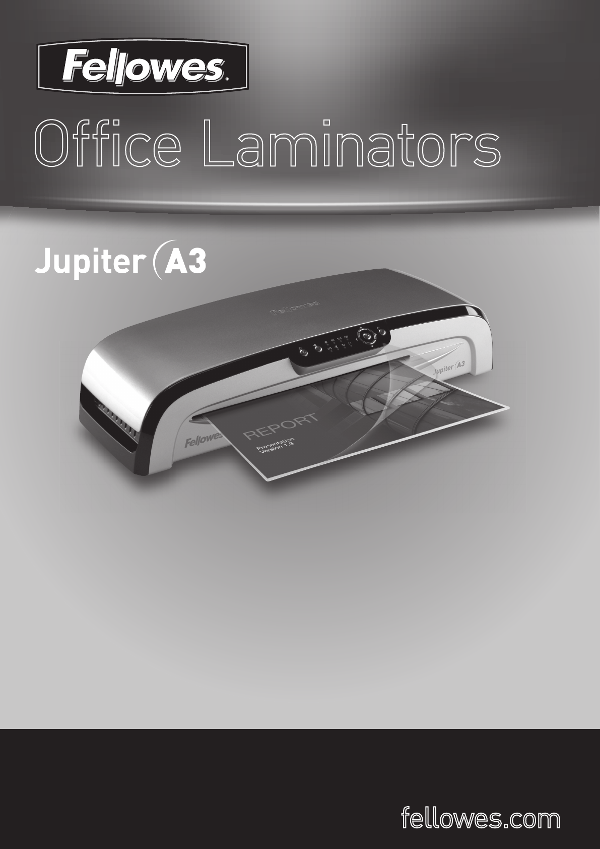fellowes jupiter a3 bruksanvisning