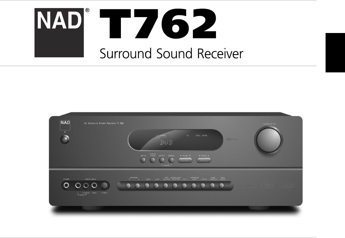 nad stereo receiver t762 user guide manualsonline com rh audio manualsonline com