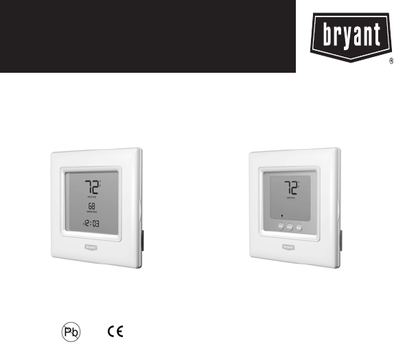 bryant thermostat t6 php user guide manualsonline com rh homeappliance manualsonline com bryant housewise wifi thermostat installation manual bryant t6 thermostat installation guide
