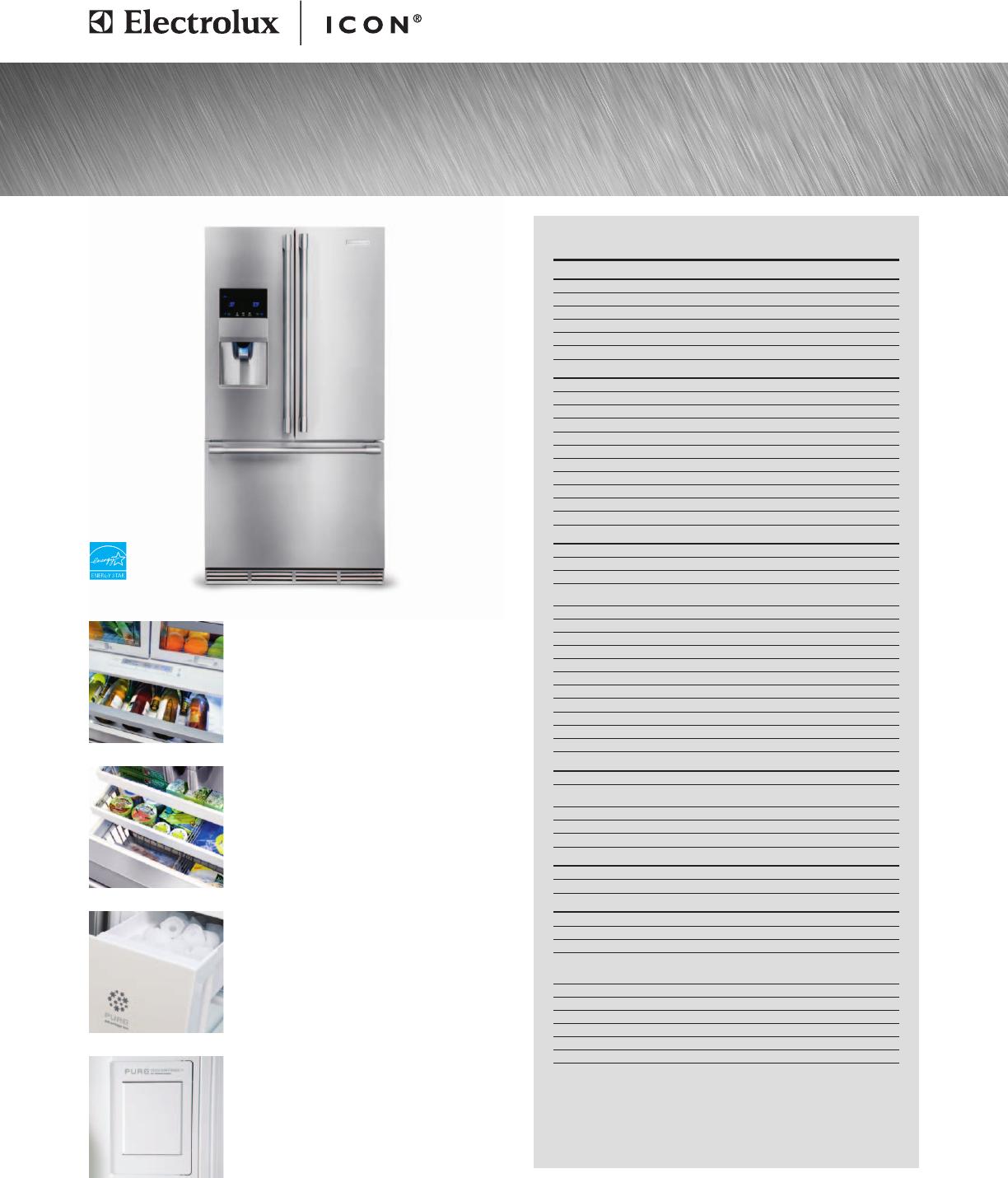 electrolux refrigerator e23bc78ips user guide manualsonline com rh kitchen manualsonline com Electrolux Refrigerators Parts Catalog Electrolux All Refrigerator