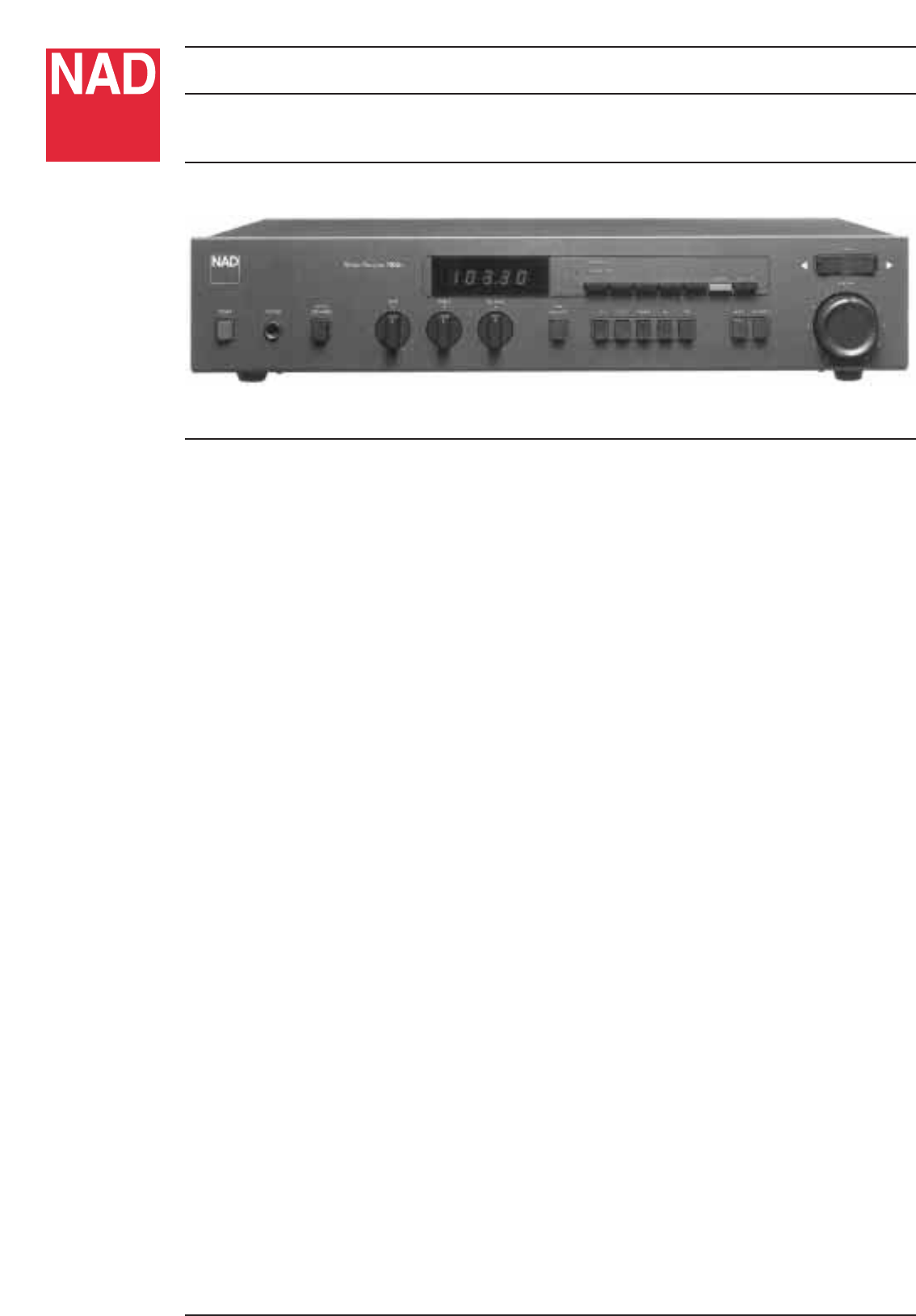 nad stereo receiver 7020e user guide manualsonline com rh audio manualsonline com Nad 7030 Nad 7030
