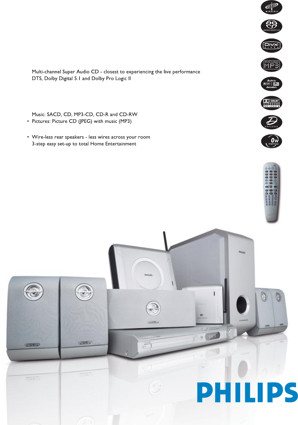 philips home theater system lx3950w user guide manualsonline com rh audio manualsonline com home theater philips hts6600 manual home theater philips hts6600 manual