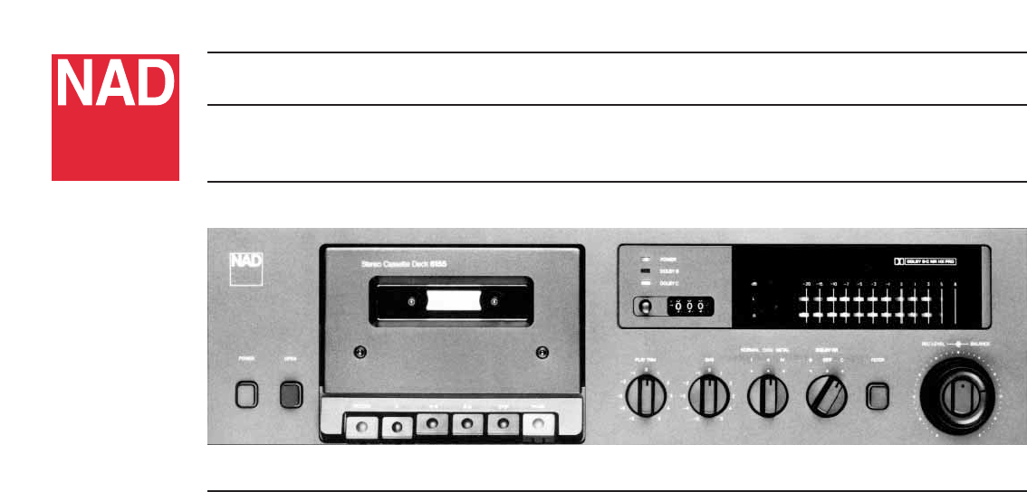 nad cassette player 6155 user guide manualsonline com rh audio manualsonline com nad 7020e user manual NAD Electronics Receiver