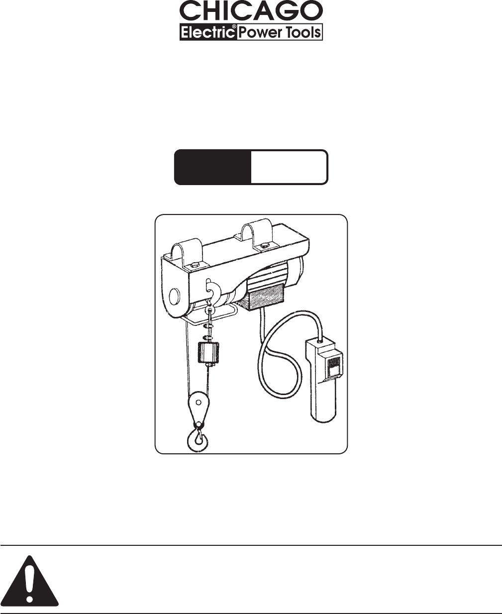 chicago electric hoist wiring diagram chicago chicago electric personal lift 40765 user guide manualsonline com on chicago electric hoist wiring diagram
