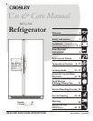 free crosley refrigerator user manuals manualsonline com rh kitchen manualsonline com Crosley Side by Side Manuals Who Makes Crosley Appliances