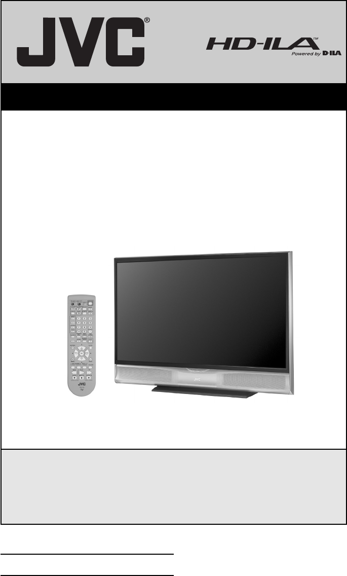 jvc projection television hd 52g886 user guide manualsonline com rh tv manualsonline com Samsung Television Pink Television