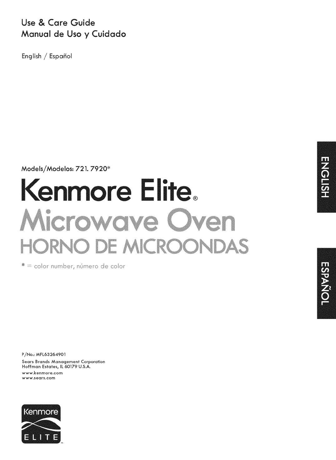 Kenmore Microwave Oven 721 7920 User Guide Manualsonline