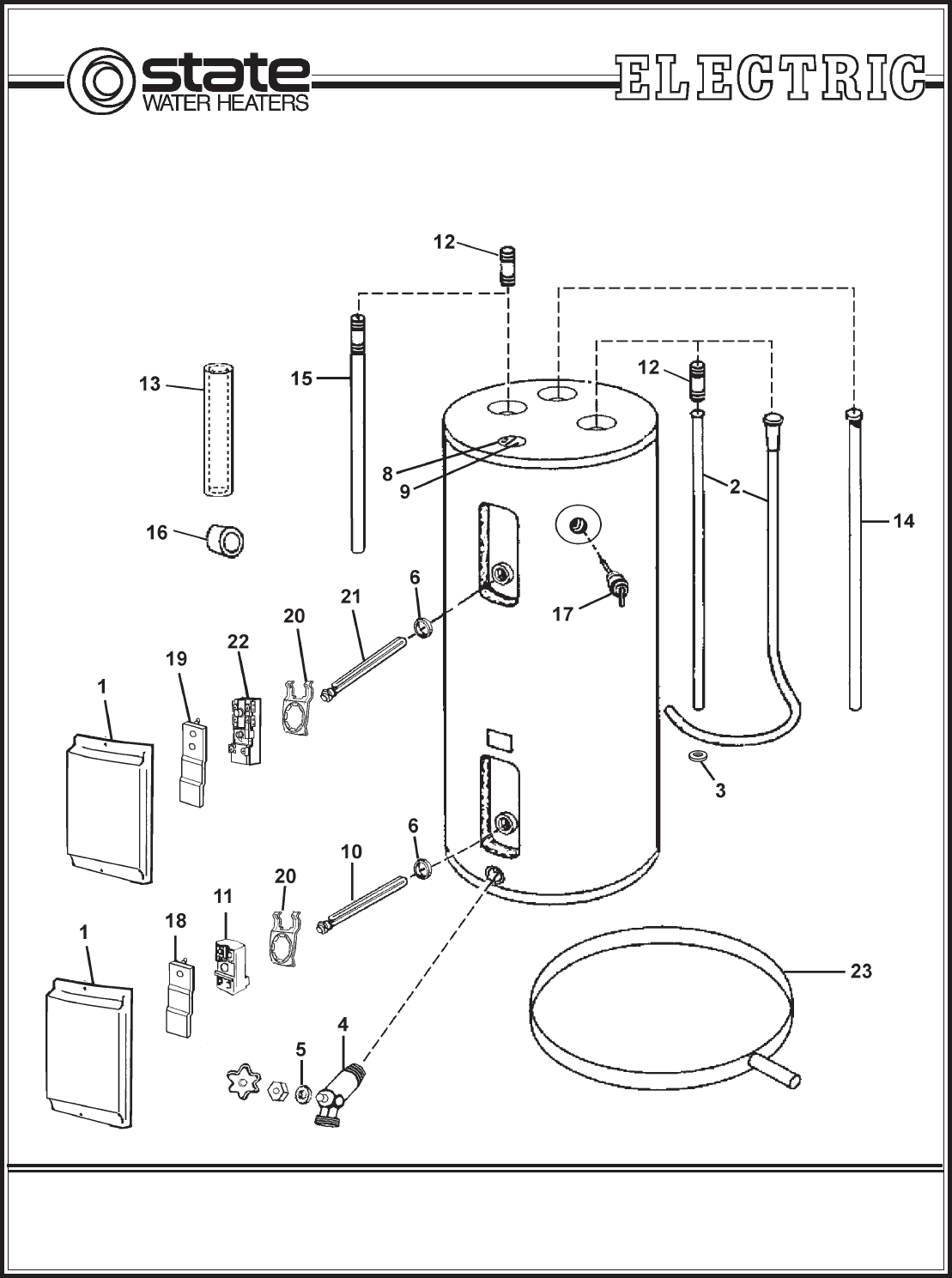 state select water heater parts