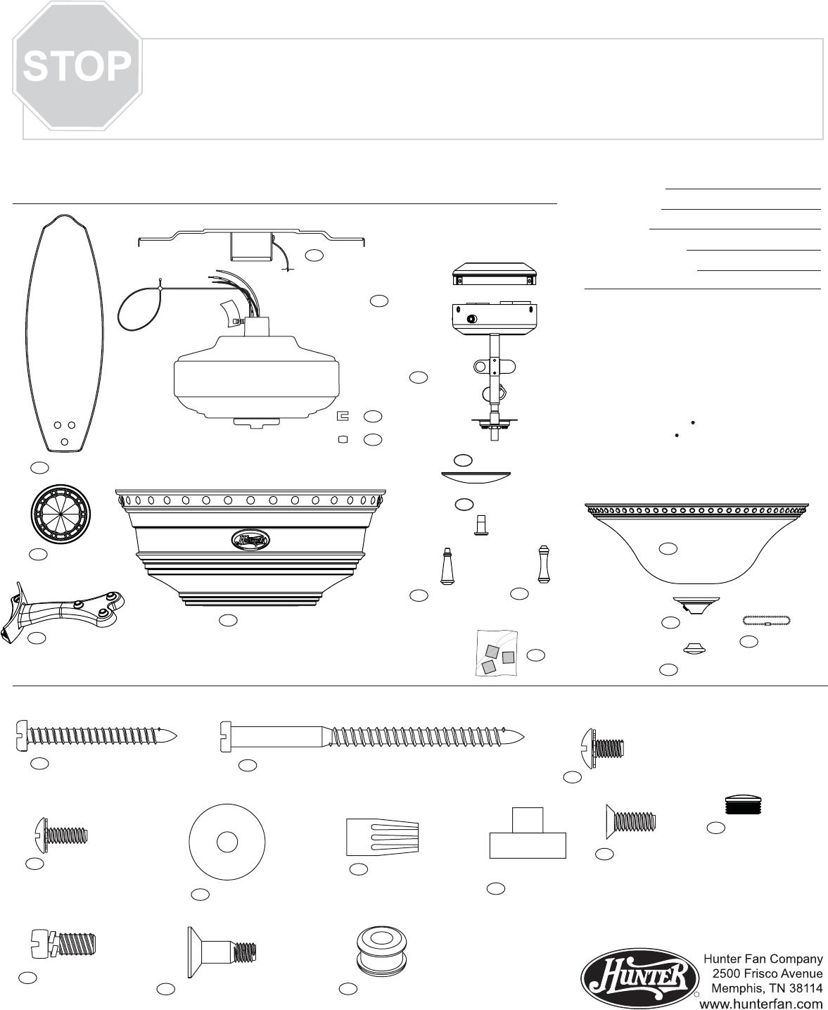 Hunter Fan Fan 22793 User Guide Manualsonline Com